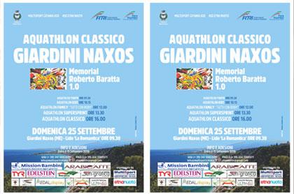 Acquathlon classico ai Giardini di Naxos